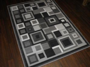 Modern Approx 6x4ft 120x170cm Woven Rug Sale Top Quality Grey-Silver panels